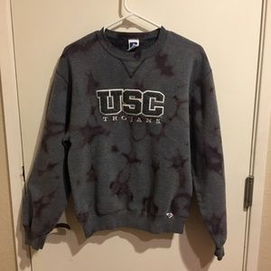 USC Trojans Beached Distressed Crewneck Sweater S